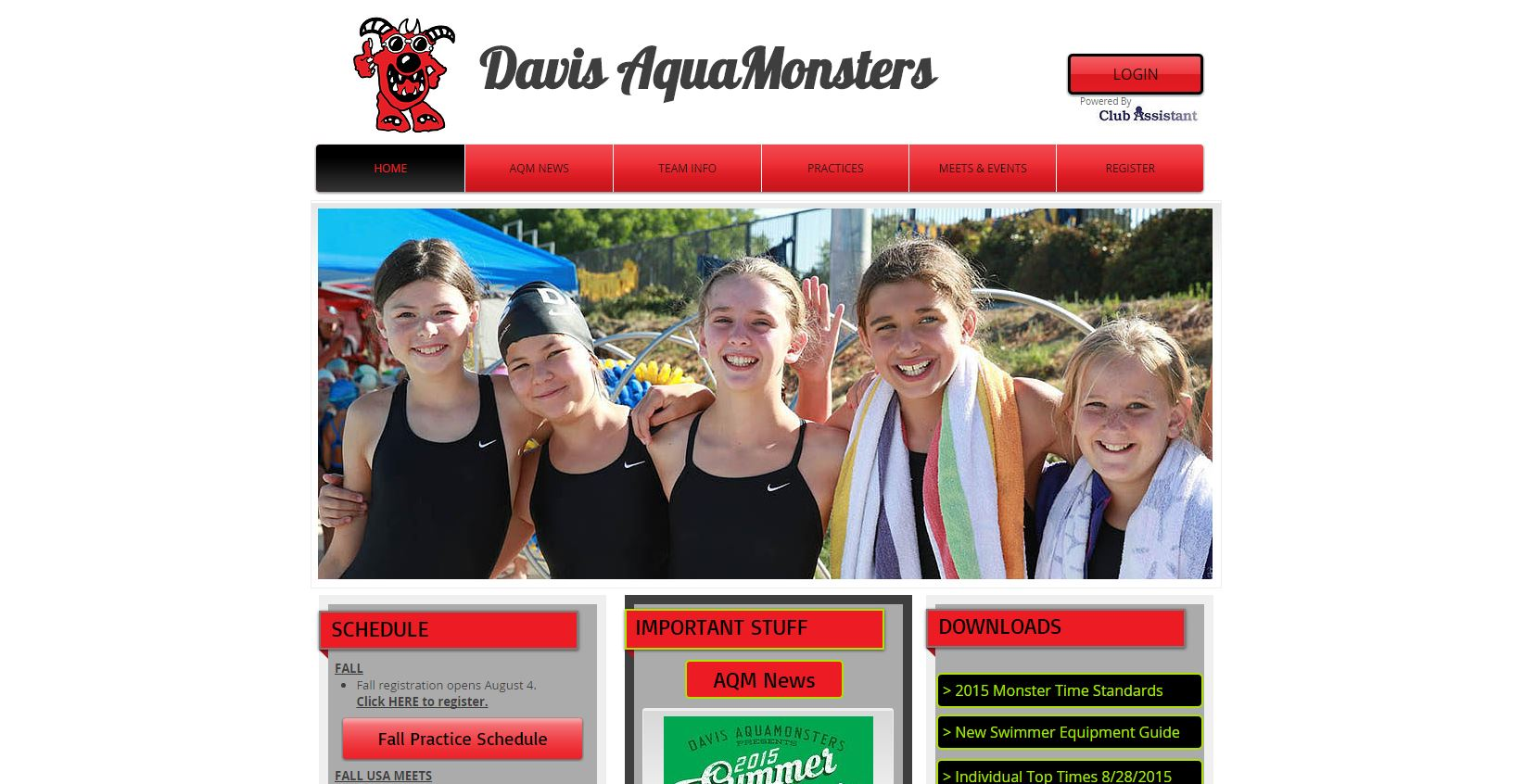 Screenshot of DavisAquamonsters.com
