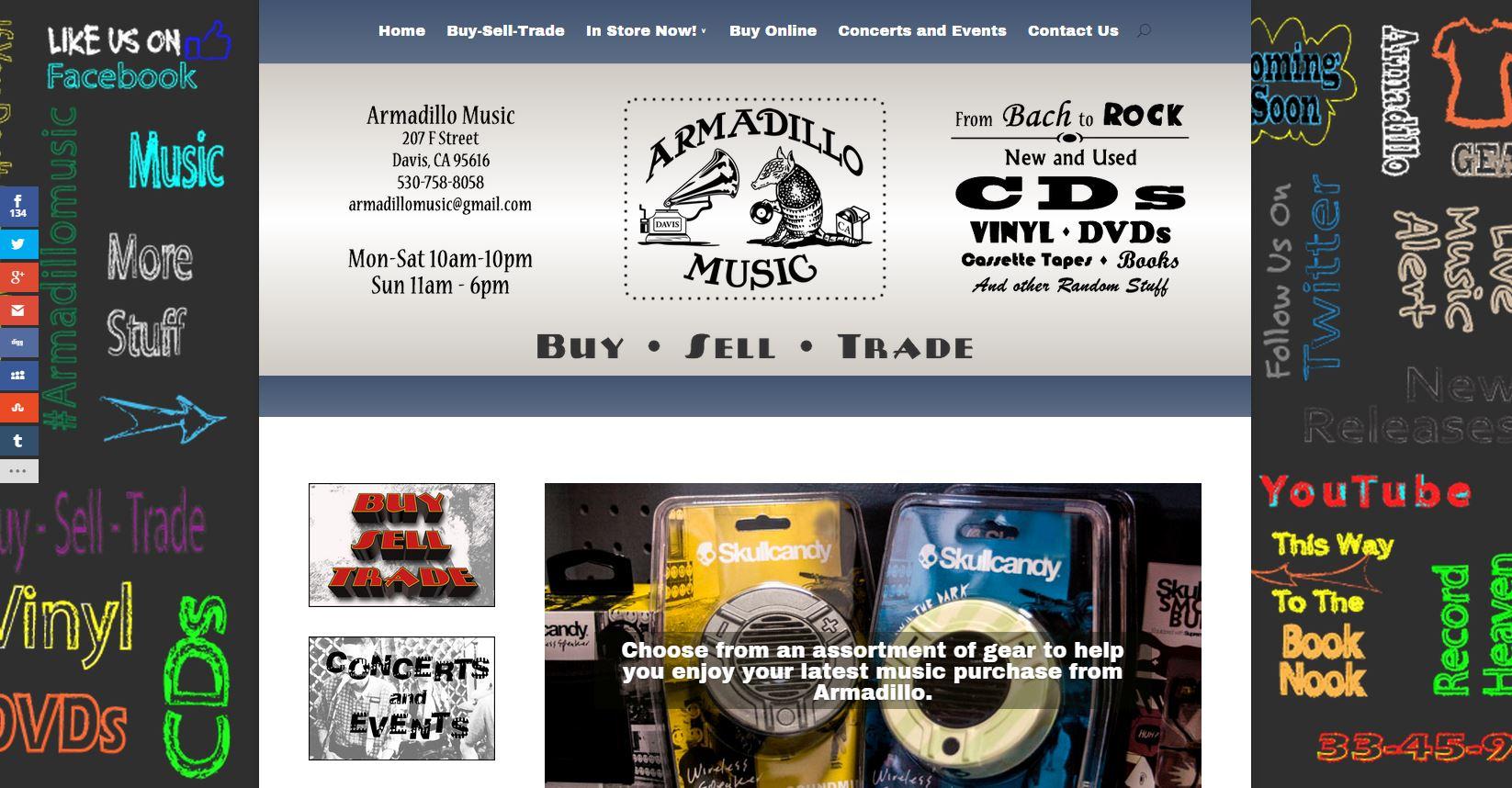 Screenshot of ArmadilloMusic.com