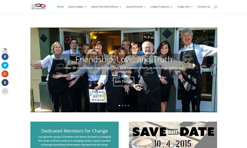 Davis Odd Fellows Lodge Website