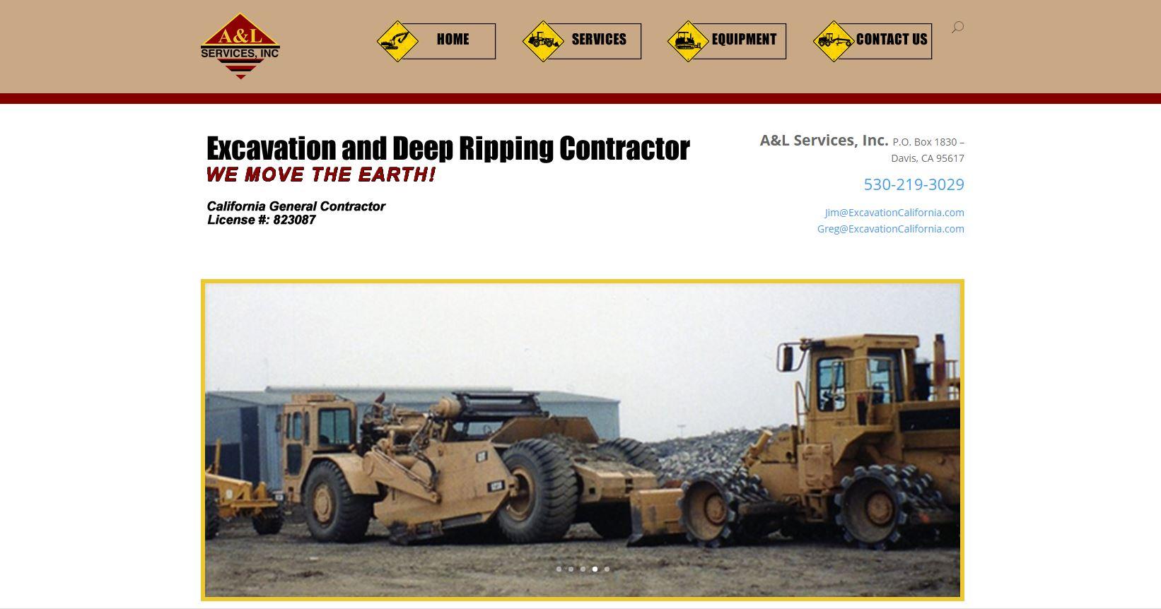 Screenshot of ExcavationCalifornia.com