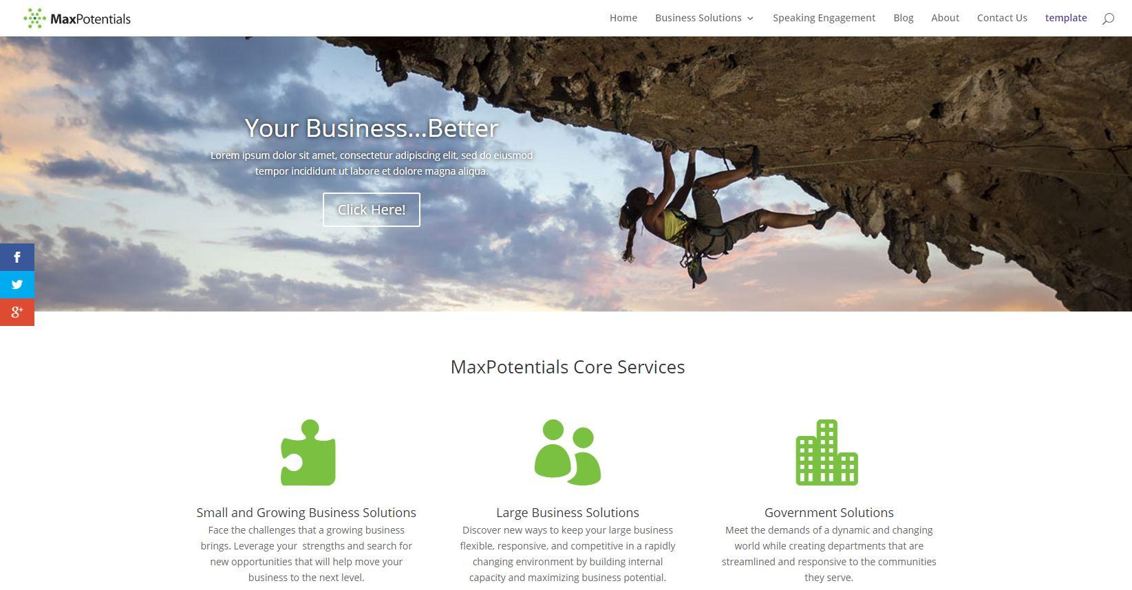 Screenshot of MaxPotentials.com