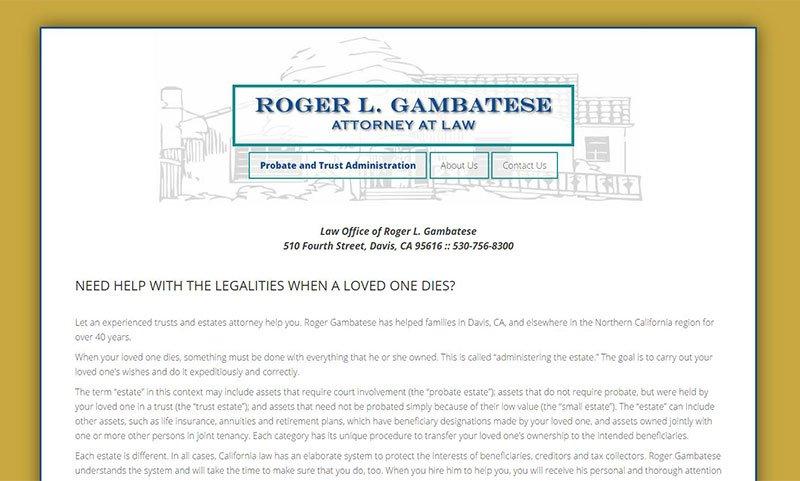 Roger Gambatese Law Website
