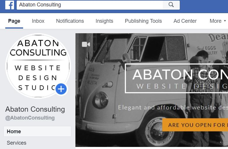 Screenshot of Abaton Consulting Facebook page