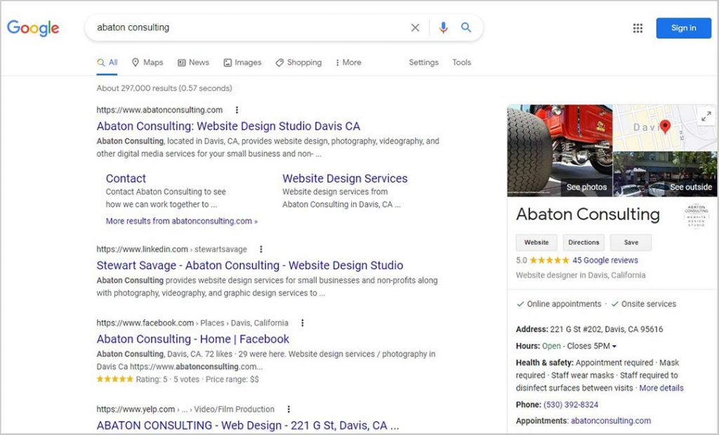 Google Search Results for Abaton Consulting