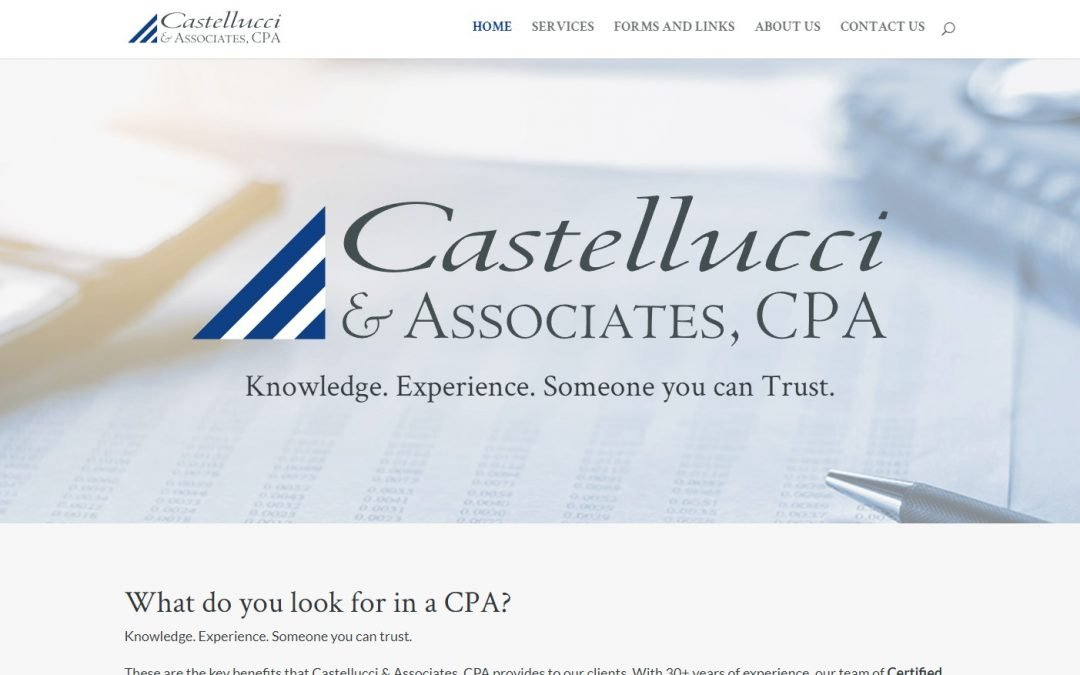 Castellucci and Associates, CPA Homepage Hero Section