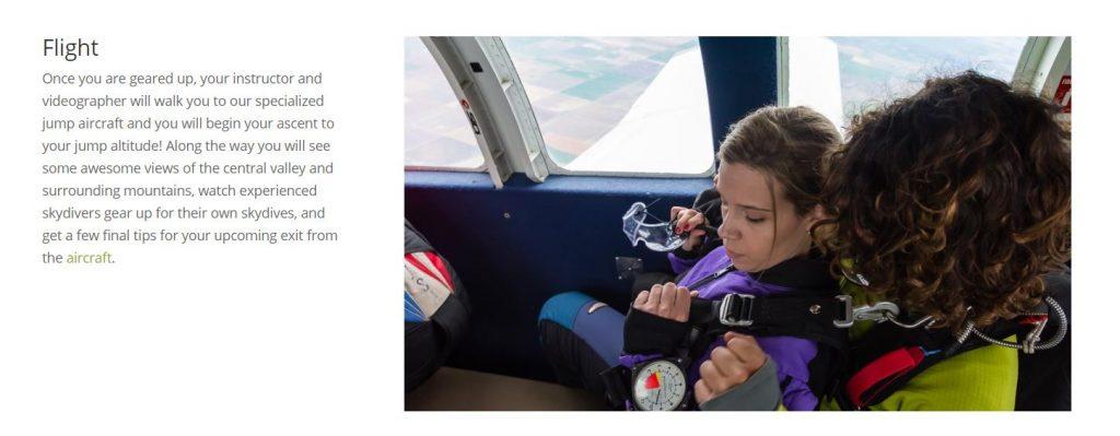 Skydance Skydiving Tandem Jump Preparation