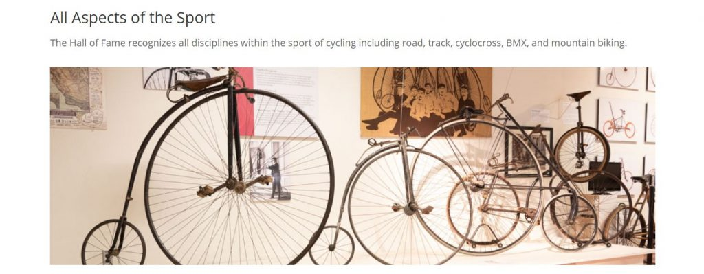 Penny-Farthing Bicycles in the United States Bicycling Hall of Fame