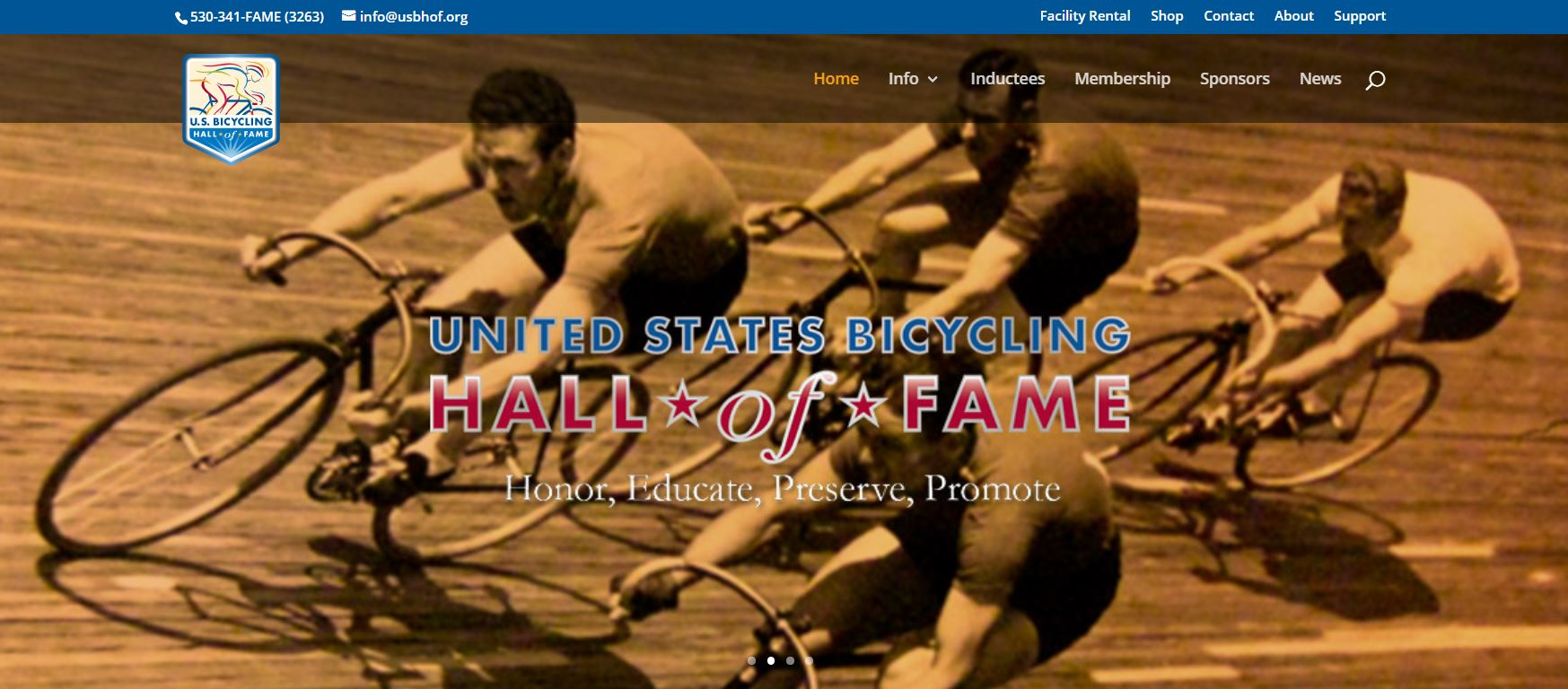 United States Bicycling Hall of Fame Homepage Hero Image